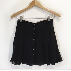Club Monaco Mini Skirt Button down Black